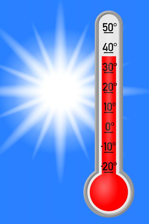 thermomètre en temps de canicule