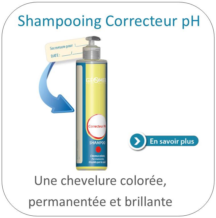 shampoing correcteur PH du laboratoire géomer