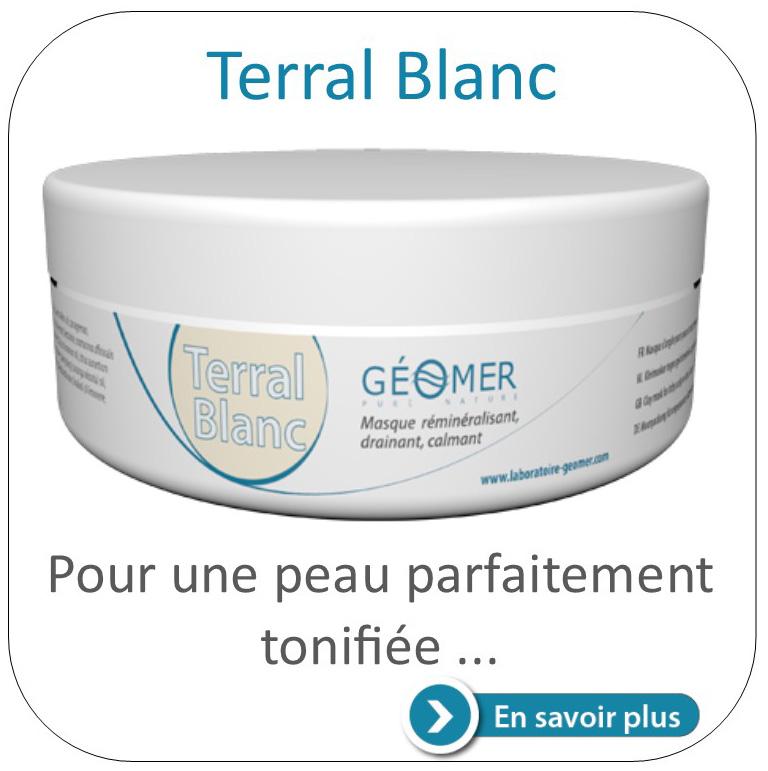 masque terral blanc de Géomer
