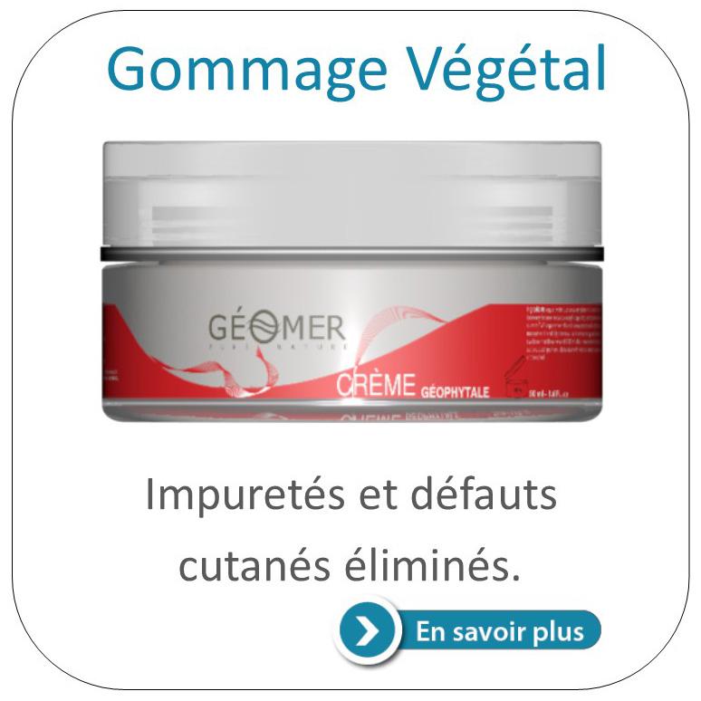 gommage végétal du laboratoire Géomer