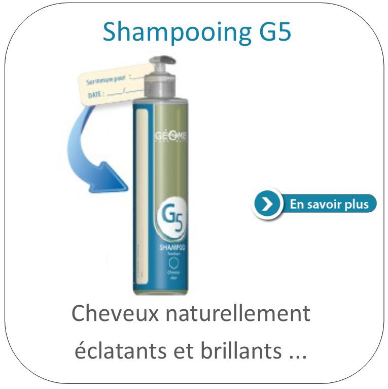 Shampoing G5 du laboratoire géomer