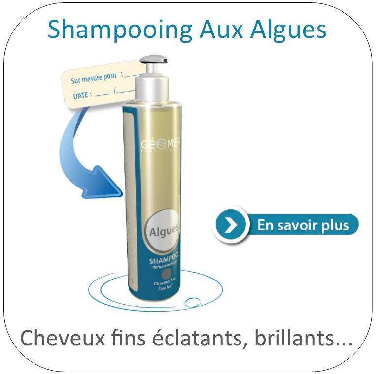 shampoing aux algues du laboratoire géomer