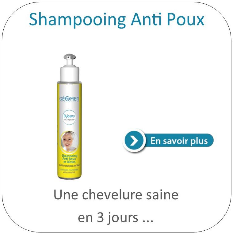 Shampoing antipoux du laboratoire Géomer