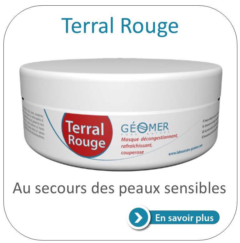 terral rouge masque à l'argile contre la transpiration