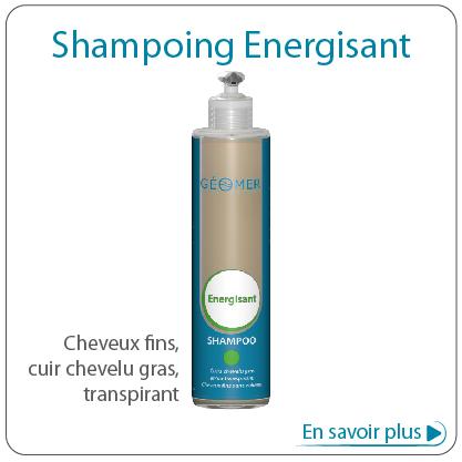 shampoing énergisant du laboratoire géomer