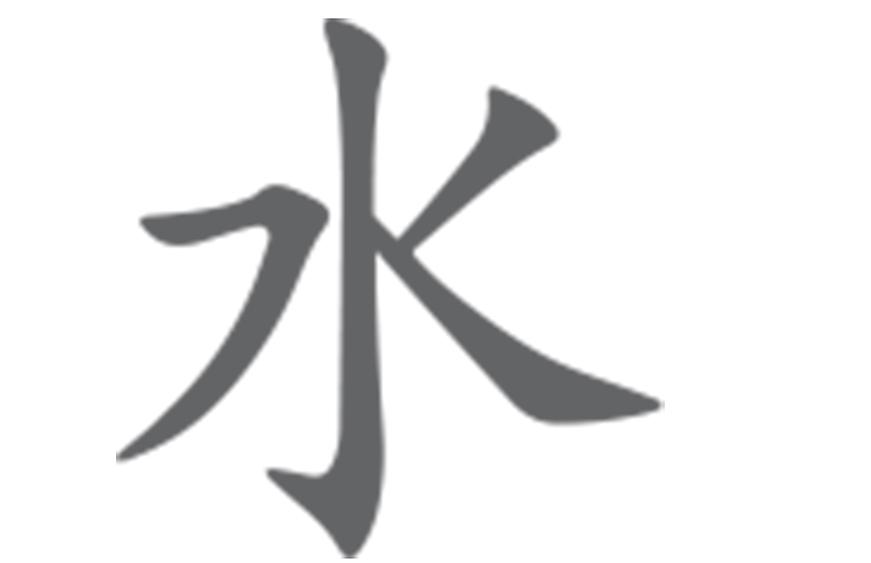 sigle de l'élément eau en chinois