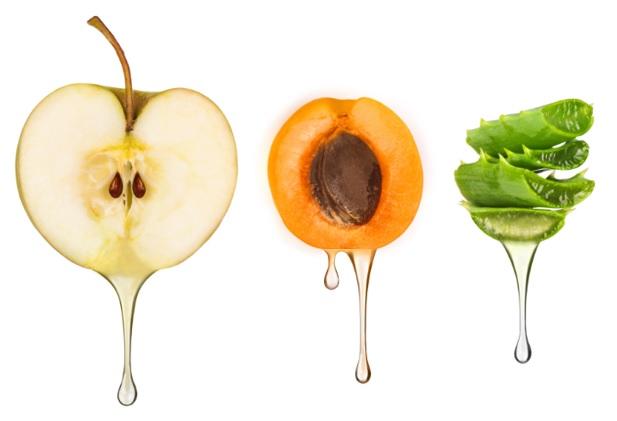 Les extraits de fruits utilisés dans les produits Géomer